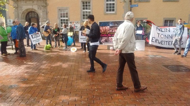 Vor-Demo zur ARIWA-Demo Schließung aller Schlachthäuser 30.06.18 10 bis 13:30 Uhr