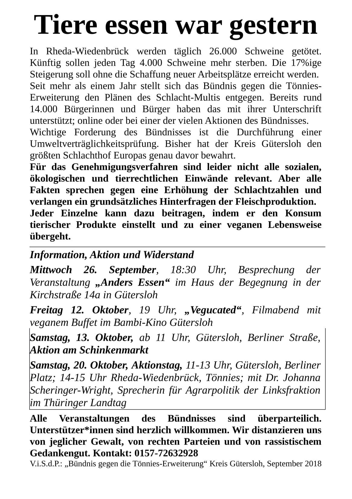 Klimakiller Tönnies - Flyer - Seite 2