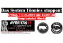 Das System Tönnies stoppen! Aktion am Freitag, den 13.09.2019 ab 15:00 Uhr am Hauptbahnhof Rheda mit Protestzug zur Schlachtfabrik Tönnies