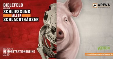 ARIWA Demo in Bielefeld: Schließung aller Schlachthäuser am Hbf um 14:00 Uhr 25.07.2020