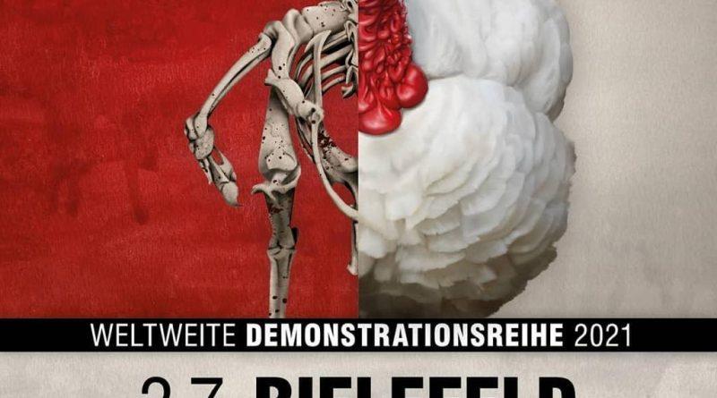 Bielefeld 2021 für die Schließung aller Schlachthäuser